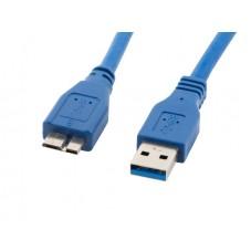 Кабел LANBERG USB MICRO-B (M) -> USB-A (M) 3.0 cable 0.5m