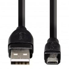 Кабел HAMA USB 2.0 Micro B мъжко - A мъжко, 0.75 м, 1 звезда - HAMA-54587