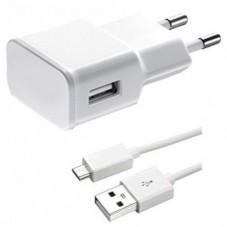 Зарядно за мобилен телефон Мрежово зарядно устройство DeTech Тravel 5V/2A 220V, Универсално, 1 x USB, С кабел Micro USB - De-14720