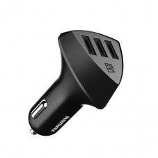Зарядно устройство за кола, Remax Aliens RCC-304, 5V/4.2A, Универсално, 3 x USB, Без кабел,Черен
