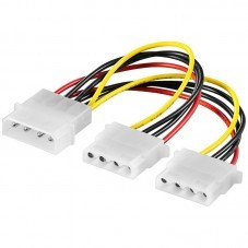 Захранващ кабел AKYGA Molex/2x Molex 15cm - AK-CA-15
