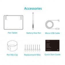 Графичен таблет HUION Inspiroy H430P,  USB, Черен