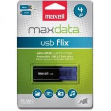 USB памет MAXELL FLIX, USB 2.0, 4GB, ЧЕРЕН