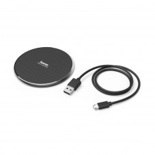 Безжично зарядно HAMA QI-FC10, 10W, Черно