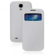 Калъф JZZS за Samsung S4, Кожа, Бял