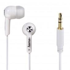 """Слушалки HAMA """"Basic4Music"""", In-Ear, 1.2 m, Бял"""