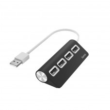 USB хъб HAMA, USB 2.0, 1:4, черен, 480Mbit/s