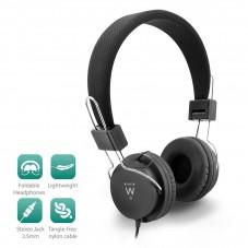 Слушалки Ewent EW3573, 1x 3.5mm жак, 1.5 м кабел ,Черни