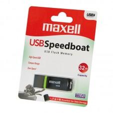 USB памет MAXELL Venture, USB 2.0, 32GB, Черен - ML-USB-E300-32GB