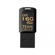 USB памет Team Group C171 16GB USB 2.0, Черен - TEAM-USB-C171-16GB-BLACK