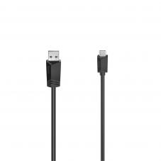 Кабел HAMA  USB-C мъжко - USB 2.0 A мъжко, 480Mbit/s,0.75 м, Черен