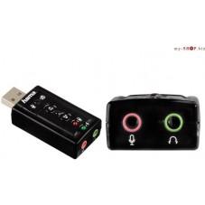 Звукова карта HAMA външна USB 7.1 Surround - HAMA-51620