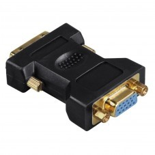 Адаптер HAMA DVI мъжко - VGA женско, Позлатени конектори,