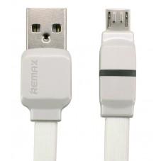 Кабел за данни micro USB, Remax Breathe RC-029m,1м, Бял, Син