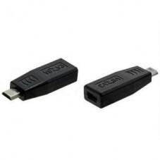 Преходник No brand, Micro USB M към Micro USB F, Черен