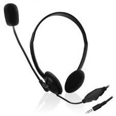 Слушалки Ewent EW3567, Микрофон, 1x 3.5mm жак, 1.8м кабел, Черни